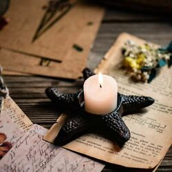 Starfish Tealight Candle Holder Black Iron Wrought Holder Home Candlestick Rack
