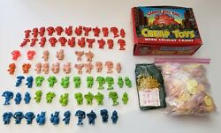 Vintage 1986 Garbage Pail Kids Cheap Toys With Crummy Candy Huge Lot - 72 Toys