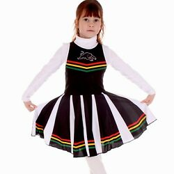 Nrl Cheerleader Dress - Penrith Panthers - Footy Suit Toddler Kid