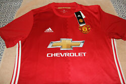 Manchester United Jersey 2016/2017 Home Shirt Adidas Mens Xl Red Devils