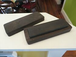 Vintage Stone Hone Sharpening Stone In Original Wooden Box 7 X 2 D.a. Shea Nr