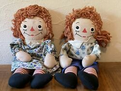 Vintage 1947 Original Johnny Gruell's Georgene Raggedy Ann And Andy Doll Set 15