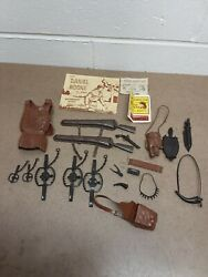 Lot Of 20+ Vintage 1964 Daniel Boone Marx 2060 Best Of The West Accessories