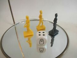 Ravensburger Ghost Midnight Party Yellow-black Pawns Figures And Ghost Die Jb