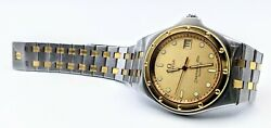 Vintage Omega Seamaster 120m Quartz Two Tone Stainless And Gold - 1342 - Working