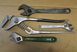 Diamond, Diamalloy Adjustable Wrenches, 12, 10, 8 16 Groove Joint Pliers