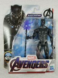 Hasbro Marvel Avengers Black Panther w Spear 6quot; Action Figure Free Shipping