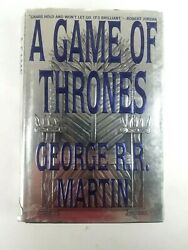 A Game Of Thrones Hardcover George Rr Martin 1996 True 1st Edition Dust Jacket