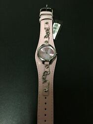 Womanand039s Pink Playboy Watch Leather Band