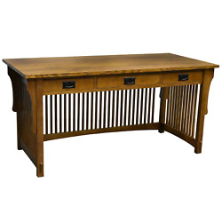 Crafters And Weavers Mission Craftsman Quarter Sawn Oak Desk, Library Table