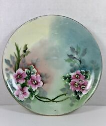 Vtg Hutschenreuther Selb Bavaria Plate Germany Floral Gold Trimmed Hand Painted