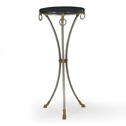 Marble Accent Table  french Neoclassical Steel And Brass Antique Plant Stand Table