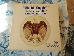 Bald Eagle Plate In Bas Relief By Goebel Germany Ltd Edition 1975 Bicentennial