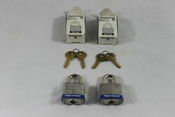 2 Vintage New Old Stock Master Maximum Security Locks With Keys. Two