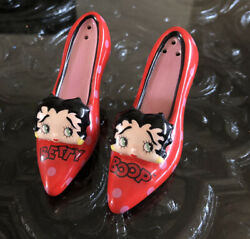 Betty Boop Salt And Pepper Shakers Set 1999 Red Shoes With Faces