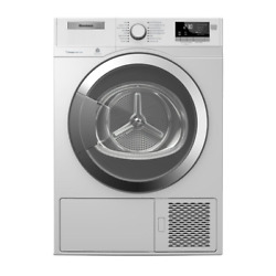 Blomberg Dhp24412w 24 Ventless Heat Pump Front Load Electric Dryer With 4.1 Cu.