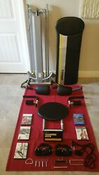 Chuck Norris Total Gym Fit W/ Attachments, Ab Crunch, Wing Bar, 5 Dvds, Mint