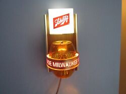 Schlitz Beer Sign Keg Rotating The Beer That Made Milwaukee Famous Rare Plz Read