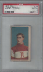 1910 C56 Lester Patrick 26 Rookie Card Psa 2 Imperial Tobacco