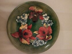 Moorcroft Iris And Spring Flowers Plate / Dish / Bowl -collectors Piece / Gift