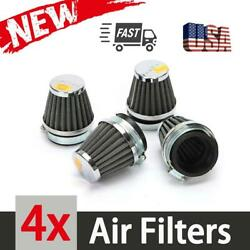 4pcs 50mm Air Intake Filter Cleaner Pod Kit Universal For Motorcycle Scooter Atv