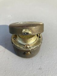 Vintage Travel Pocket Inkwellbrass Coated Outside/ Metalall Pieces Intact