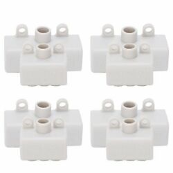 4pcs 1 In 2/4 Electrical Cable Wire Connector Junction Box Terminal Block 60a