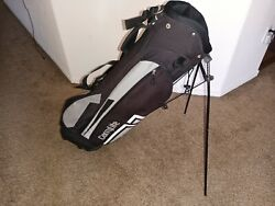 Knight Carrylite Black And Light Gray Stand Golf Bag With Stand.