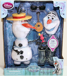 Frozen Mix Em Up Olaf Snowman Pull Apart And Change Playset 14pc Toy Disney Store