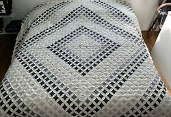 Rare Amish Handmade Quilt For Sale Cathedral Windows New Amish King Quilt