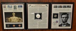 Abraham Lincoln 200th Anniversary Commemorative Coin And Stamp Set Pcs