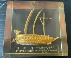 Turtle Ship Paperweight - The World's First Iron Cladship - 1592