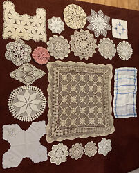 Lot Of Vintage Handmade Crochet Doilies Lace Country Wedding Craft