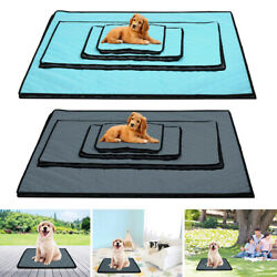 Pet Cooling Mat Cool Pad Cushion Bed Blanket For Summer Dog Cat Puppy S M L XL
