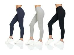 Womens Soft Stretch Cotton High Waisted Leggings Long Workout Yoga Pant Fitness $8.76