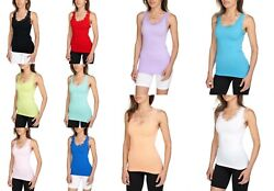 NEW SEXY Lace Shoulder Ribbed Solid Cotton Tank Top Sleeveless Shirts Gym Yoga $6.95