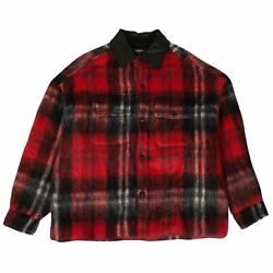 Nwt Amiri Black And Red Plaid Mohair And Wool Oversized Work Shirt Size M 2500