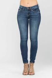 Judy Blue Womenand039s Mid Rise Skinny Jeans Style 82106