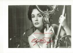 Elizabeth Taylor Signed 11x8.5 Photo Maggie The Cat 'cat On A Hot Tin Roof