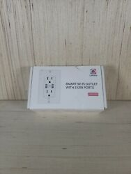 Lumary Smart Outlet Wi-fi Outlet In Wall With 2 Usb Ports Works With Alexa And