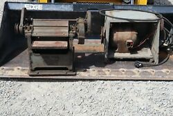 Old Antique Vintage Red Fox 4x12 Power Bench Planer Heavy Duty