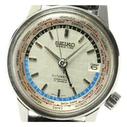 Seiko World Time 6217-7000 Tokyo Olympic Model Automatic Menand039s Silver Dd [e0521]