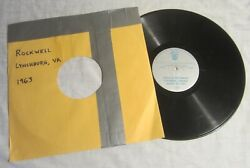 George Lincoln Rockwell - Privately Pressed Lp - 1963 Lynchburg Speech, Virginia