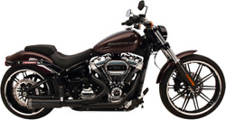 National Cycle 2-into-1 Fatshot Black Exhaust System For Harley 827-74684