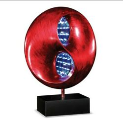 Beautiful New Red Infinity Collectors Table Lamp