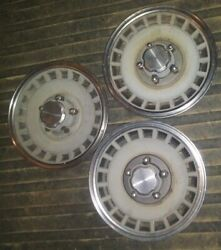 3 Vintage Oem 79-96 Ford Truck Van Hubcaps 15andrdquo F150 Pickup Can Use On Others