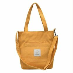 Pocket Front Large Canvas Made Washable Cross Body Bags For Women Zipper Closure $25.64