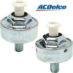 2133521 Ac Delco Set Of 2 Knock Sensors New For Chevy Avalanche Yukon Pair