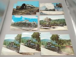 6 Steamtown Bellows Falls Vt Trains Rr Postcards And Reading 2100 Super Post Cards