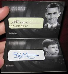 Twilight Zone Archives Dual Booklet Autograph Acb2 Rod Serling Billy Mumy Mt